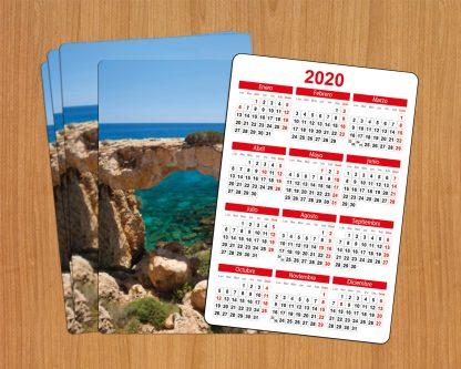 calendario personalizado de bolsillo